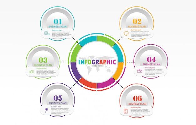 Диаграмма, используемая в образовании и векторном дизайне, использует преимущества бизнес-образования.