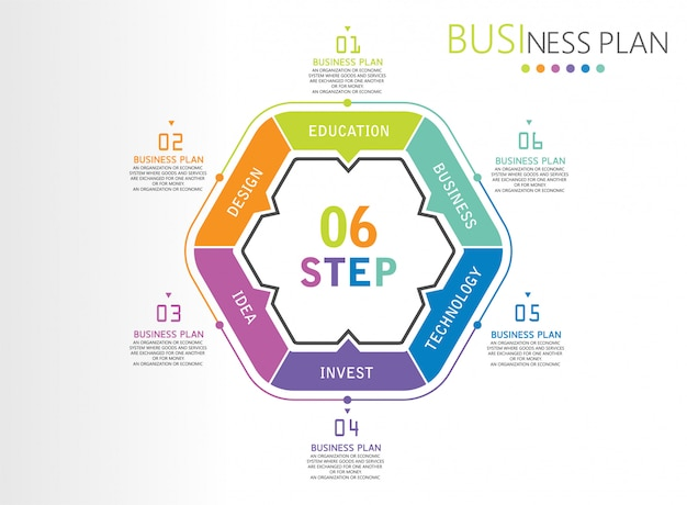 Diagrams  presentation process, outline in business, investment education.