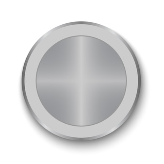 Dial knob. realistic metal button