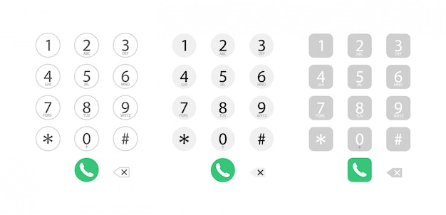 Dialing interface on the phone. keyboard with numbers. dialing a number for a call.