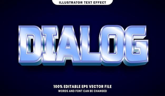 ダイアログの3d編集可能なテキストスタイル効果