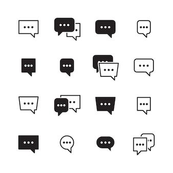 Dialog bubbles. talking chatting box icons dialog pictogram for messengers. box dialog talk, communication message and speech bubble communicate illustration