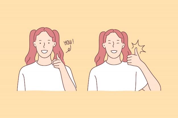 Dialog, communication, good mood illustration