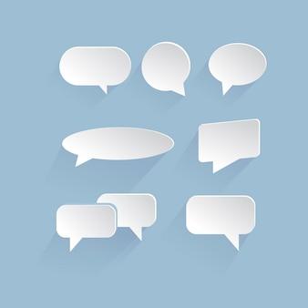 Пузырь диалога. изолированный фон векторные иллюстрации eps 10. бумажный стиль.