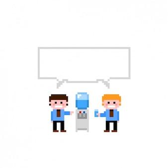 Dialogue workmates pixelated