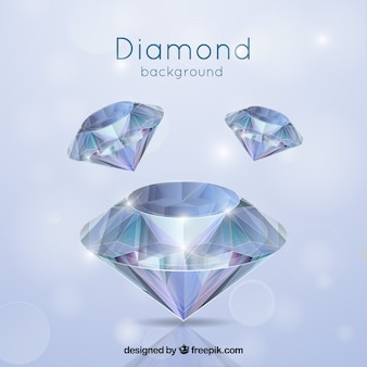Diamond background in realistic style