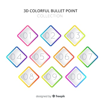 Diamond bullet point collection