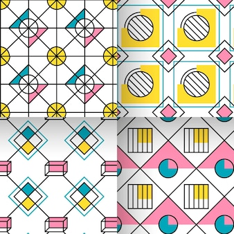 Diamond and circles geometric pattern collection