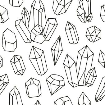 Diamond doodle seamless pattern