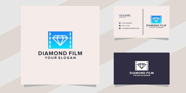 Diamond film logo template
