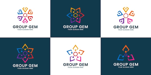 Diamond group inspiration logo for team work and family