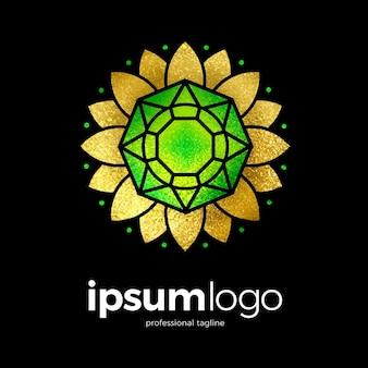 Diamond jewellery logo template