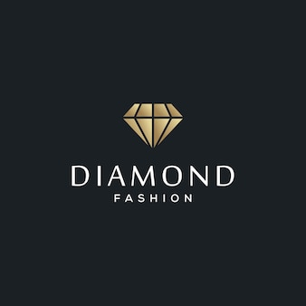 Diamond jewelry logo design template