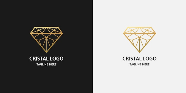 Diamond line logo template