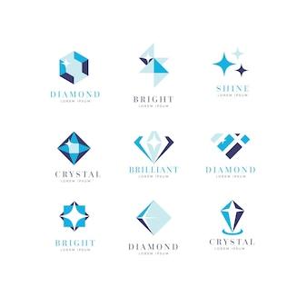 Коллекция дизайна логотипа diamond