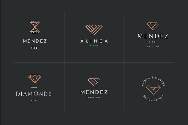 Алмазный дизайн шаблона логотипа