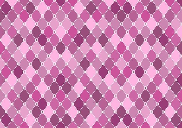 明るいパステル斜めグリッドと紫のトーンのダイヤモンドパターン