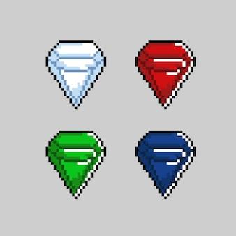 Цвет бриллиантового набора в стиле пиксель-арт