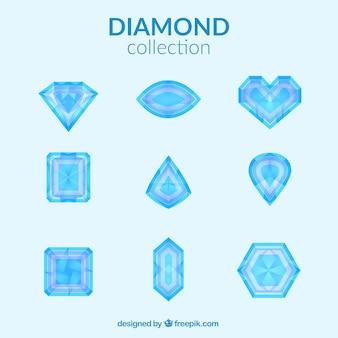 Diamante incastonato in design piatto