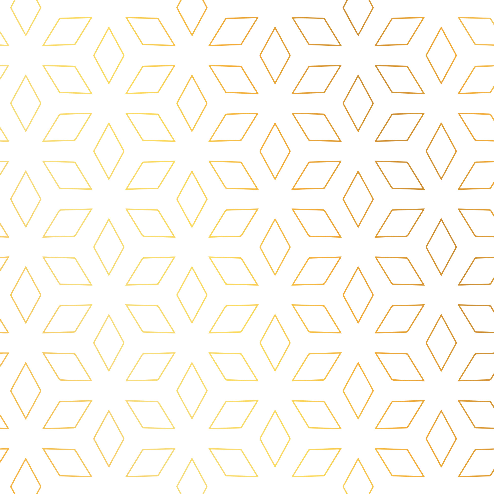 Diamond shape golden pattern vector background