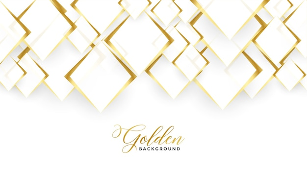Diamond shapes golden and white background design