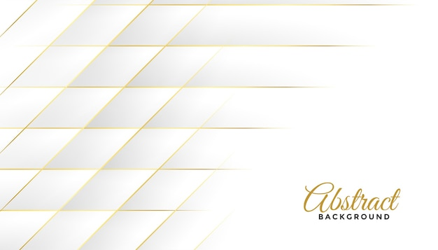 Diamond shapes white and golden lines background design