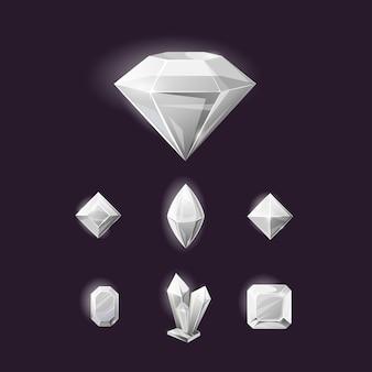 Diamond sign icon, gemstone.