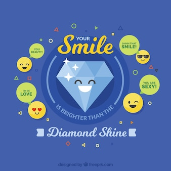 Алмазный улыбающийся фон
