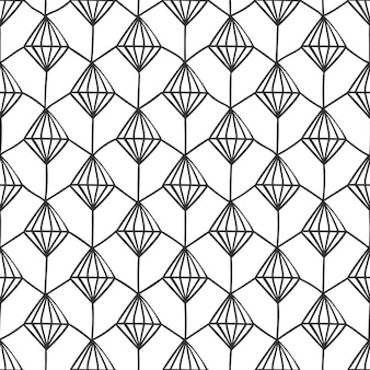 Diamond structure geometrical background