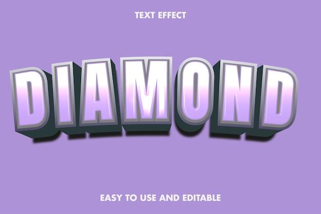 Diamond text effect. editable font style.