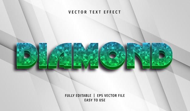 Diamond text effect, editable text style