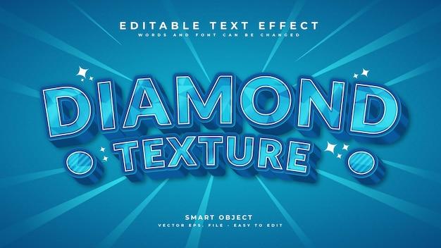 Diamond text effect premium vector