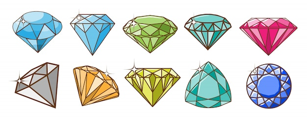 Diamond vector set