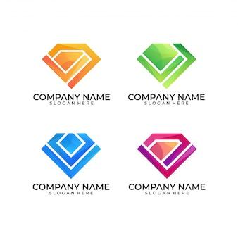 Шаблон логотипа diamont