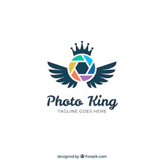 Логотип фотографии диафрагмы в плоском стиле