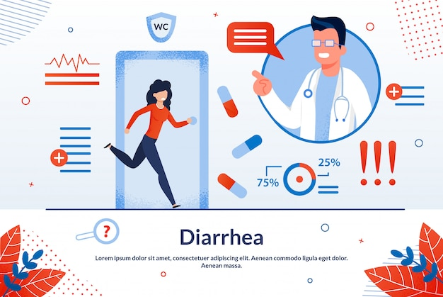 Diarrhea disease treatment  banner template