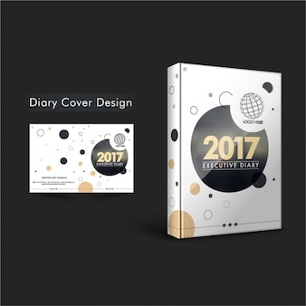 Diary cover with circles in different styles