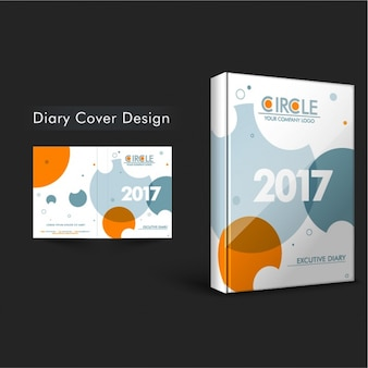 Diary cover with orange circles