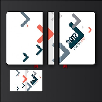 Diary design with abstract geometric forms