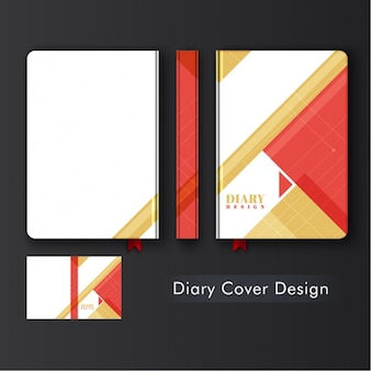 Diary design with geometric forms
