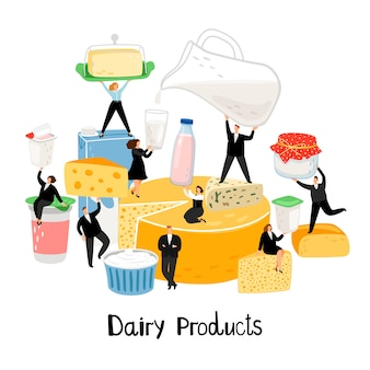 Diary products illustration