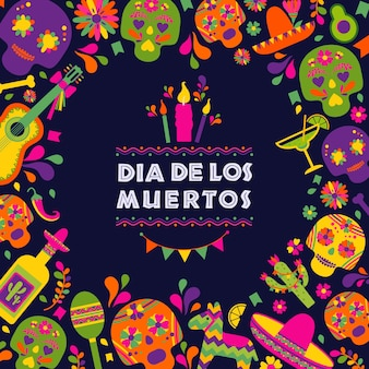 ディアスデロスムエルトス、死の饗宴、伝統的なメキシコの祭り。
