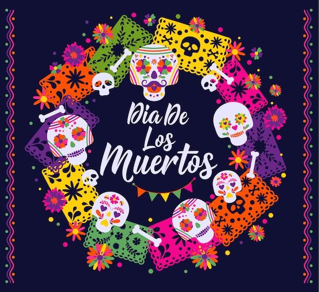 Dias de los muertos, праздник смерти, традиционный мексиканский фестиваль.