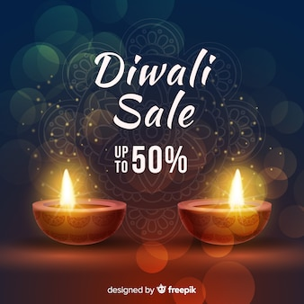 Diawli sale concept with realistic background