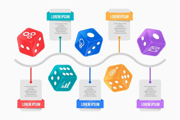 Кость инфографики концепция