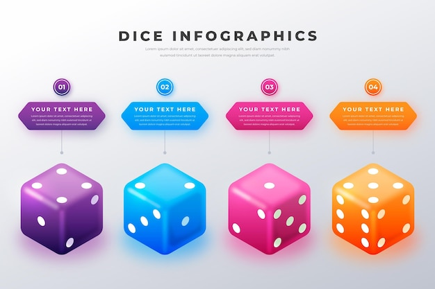 Dice infographic illustration