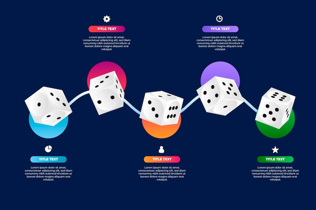 Dice infographic template