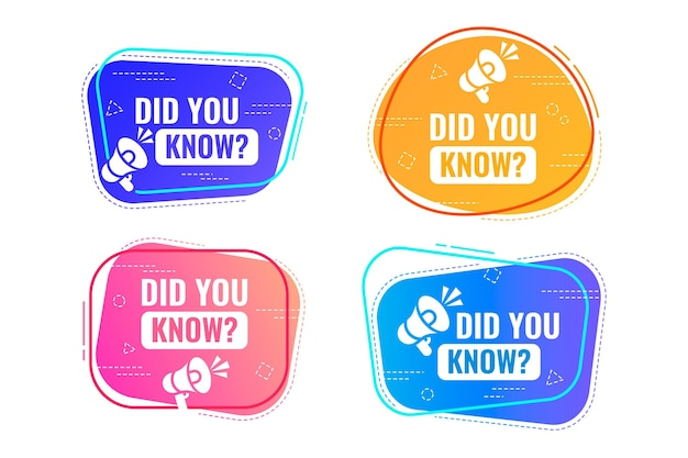 Did you know badges collection