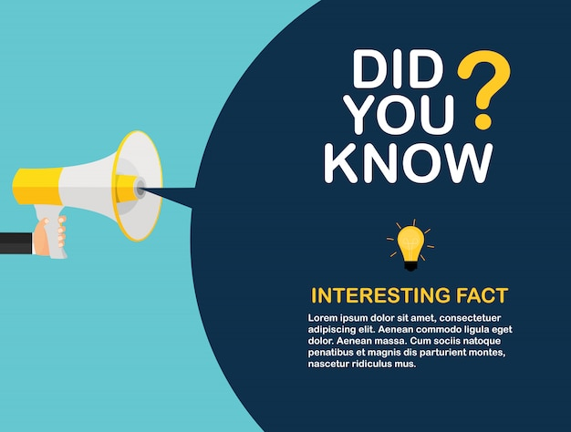 Did you know interesting fact label sticker.  illustration