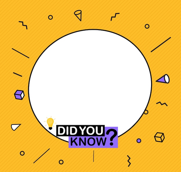 Did you know label sticker with speech bubble.